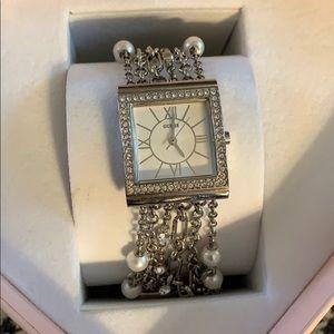Genuine guess watch bling pearls bracelet
